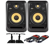 2x KRK V6S4 with GSM-50 Stands & Cables