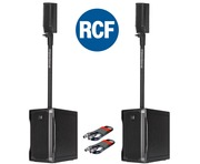 RCF Evox 5 (Pair) Speaker System with Free XLR Cables