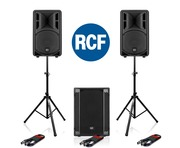 2x RCF Art 310-A MK4 Speakers & RCF SUB 702AS II