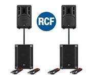 RCF Art 310-A MK4 Speaker (x2) & RCF SUB 702AS II Subwoofer (x2)