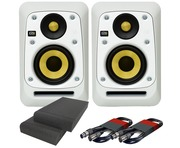 2x KRK V4S4 White Noise with Pads & Cables