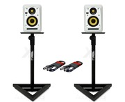 2x KRK V4S4 White Noise with GSM-100 Stands & Cables