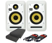 KRK V6S4 White Noise (Pair) with Pads & Cables