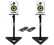 KRK V6S4 White Noise (x2) with GSM-100 Stands & Cables