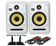 KRK V8S4 White Noise (x2) with GSM-50 Stands & Cables