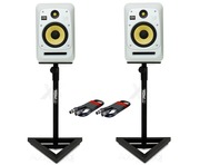 KRK V8S4 White Noise (x2) with GSM-100 Stands & Cables