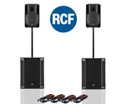 RCF Art 710-A MK4 PA Speaker (x2) + RCF Sub 705-AS II (x2)
