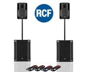 RCF Art 710-A MK4 PA Speaker (x2) + RCF Sub 705-AS II (x2)