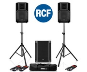 RCF Art 712-A MK4 PA Speaker (x2) + RCF Sub 705-AS II (x1)