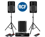 RCF Art 715-A MK4 PA Speaker (x2) & RCF Sub 705-AS II (x1)