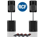 RCF Art 715-A MK4 PA Speaker (x2) & RCF Sub 705-AS II (x2)
