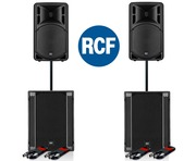 RCF Art 312-A MK4 Speaker (x2) & RCF SUB 705-AS II (x2)