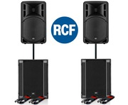 RCF Art 315-A MK4 Speaker (x2) & RCF SUB 705-AS II (x2)