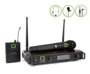 Q-Audio QWM 1932 V2 HH + BP Wireless Microphone System