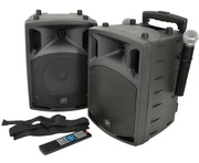 QTX PAV8 Portable PA Set with Mics, Bluetooth & DVD