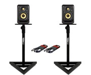 2x KRK V4S4 with GSM-100 Stands & Cables