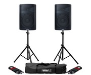 Alto TX212 (Pair) with Stands & XLR Cables