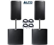 Alto TS315 (Pair) & Alto TS215S (Pair) Sub Package