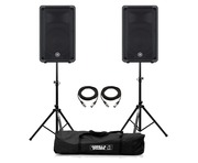 Yamaha DBR10 Speaker (Pair) with Stands & Cables Package