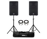 Yamaha DBR12 Speaker (Pair) with Stands & Cables Package