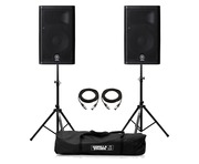 Yamaha DXR8 Speaker (Pair) with Stands & Cables Package