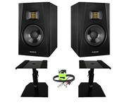 Adam Audio T5V with GSM-50 Stands & Cable Package