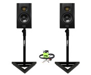 Adam Audio T5V with GSM-100 Stands & Cable Package