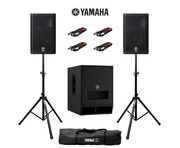 Yamaha DXR10 (Pair) & DXS12 MK2 with Stands and Cables