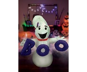 QTX Inflatable Halloween 4ft Ghost with Boo