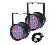 2x Equinox LED Par 64 & DMX Cable
