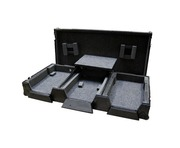 "Total Impact Coffin Flight Case CDJ2000 & 12.5"" Mixer inc Laptop Shelf Black"