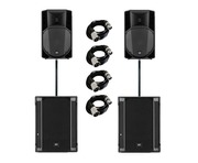 RCF Art 745-A MK4 (x2) & RCF Sub 705-AS II (x2) with Poles & Cables