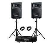 FBT JMaxX 114A (Pair) with Stands & Cables