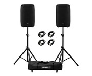 RCF HD 15-A (Pair) with Stands & Cables Package