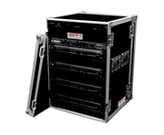 "TIP Total Impact 16U 19"" Amplifier Deluxe Rack Inc Caster Board- 18"" depth"
