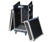 Total Impact TIP 16U/10U Mixer Rack Inc Laptop Slide And Wheels