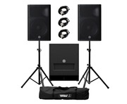 Yamaha DXR15 mkII (Pair) & DXS15 mkII plus Stands & Cables