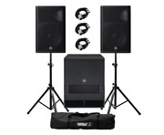 Yamaha DXR15 mkII (Pair) & DXS18 plus Stands & Cables