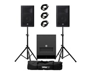Yamaha DXR10 (Pair) with DXS12 mk 2 with Stands & Cables