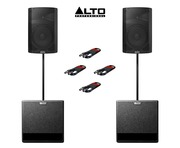 Alto TX212 (x2) + TX212S (x2) with Poles & Cables