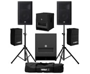 Yamaha DXR10 (Pair) with DXS12 mk 2 with Stands, Cables & FREE Covers!