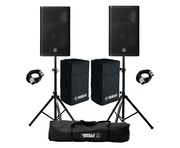 Yamaha DXR12 MkII (Pair) with Stands, XLR Cables & FREE Covers!