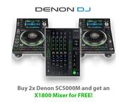 Denon DJ SC5000M (Pair) & Denon DJ X1800 Mixer