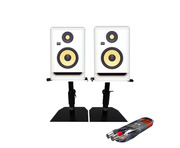 KRK Rokit RP5 G4 + Desktop Monitor Stands + Cable