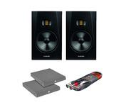 "Adam Audio T8V 8"" Studio Monitors w/ Isolation Pads & Cable"