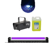Moonglow LED + UV Blacklight with Smoke Machine & 5L Fluid