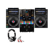 Pioneer CDJ-3000 (x2) + DJM-S11 w/ Headphones + Cable