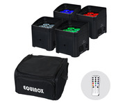 Equinox Colour Raider Lithium Battery Uplighter Pack