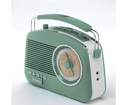 Steepletone 50's Style Brighton Radio Sage Green