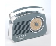 Steepletone 50's Style Brighton Radio Grey